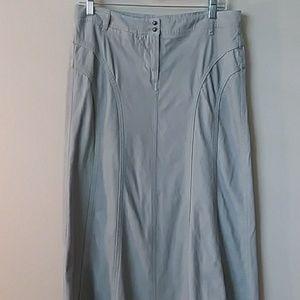 White House black market gray corduroy maxi skirt